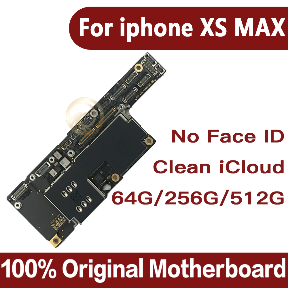 For IPhone XS Max Motherboard Without Face ID Original Motherboard For Iphone Xs Max Free ICloud Full Tested Logic Board