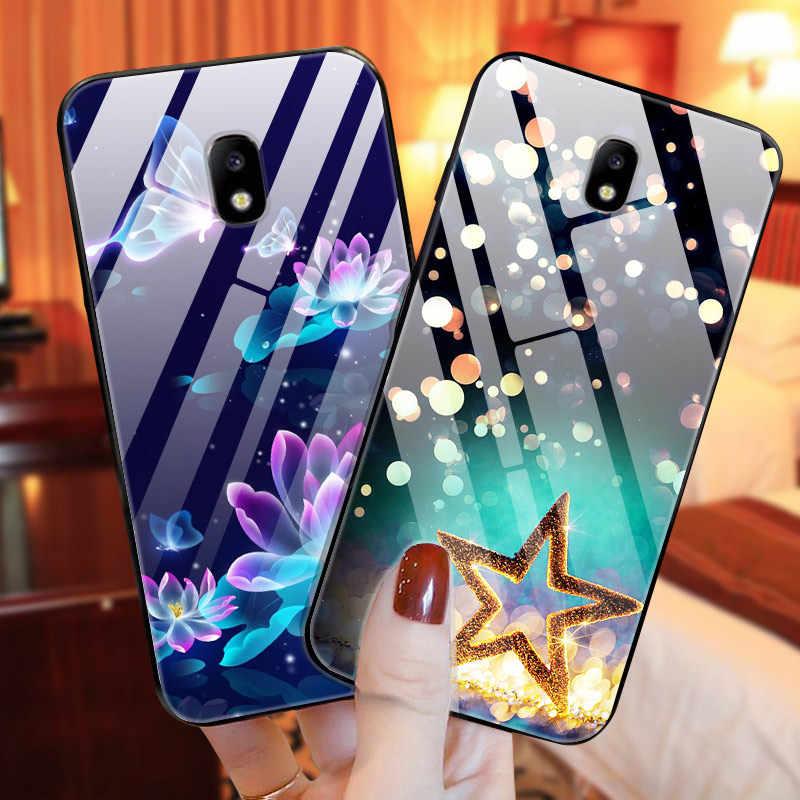 強化ガラス電話ケース J7 2017 ケース三星銀河 J7 2017 カバーバンパーサムスン J7 プロ J 7 J730 バッグ