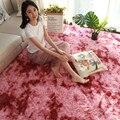Европейский коврик с длинными волосами для спальни  окрашенный градиент  моющийся  нескользящий мягкий ковер и ковры для дома и гостиной