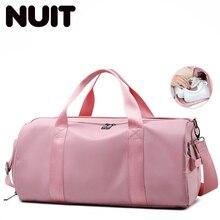 Women Yoga Gym Travelling Bag Nylon Handbags For Shoes Ladies Travel Training Bags Dry And Wet Sport Casual Tote Handbag