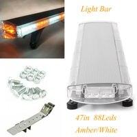 88 LED 47 Side Car Roof Strobe flashing Warning Bar Emergency Beacon Light Magnetic Patterns Light Bar Warning tow Truck Strobe