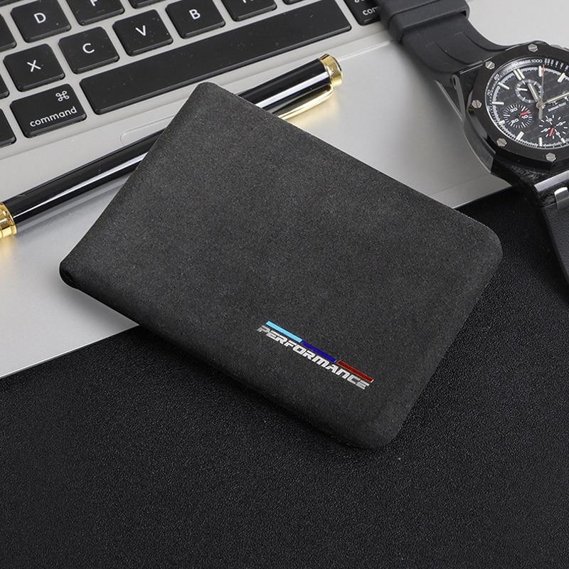 1PC skórzana torba na prawo jazdy kierowcy samochodu dokumenty na karty kredytowe posiadacz karty kiesy portfel etui na bmw style