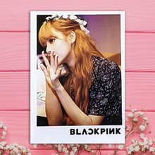 16Pcs/Set Kpop Kpop BLACKPINK LOMO Cards JISOO JENNIE ROSE LISA Portray Photo Cards LOMO Small Cards With Clips And Rope(China)
