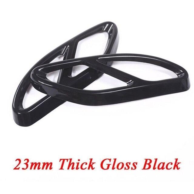 Mercedes Benz için 2 adet egzoz susturucu kapak Trim kalıplama siyah paslanmaz çelik destek GLC GLE GLS C E sınıfı
