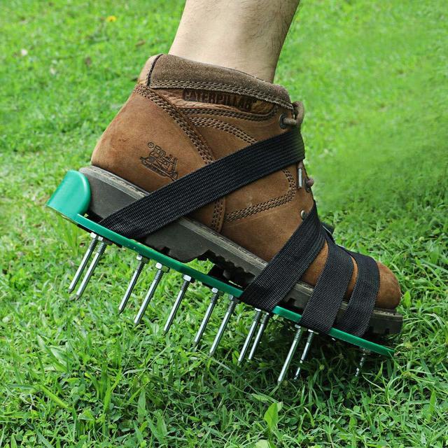 Παπούτσια γκαζόν aerator νέα άφιξη με 6 κορδόνια garden yard grass cultivator scarification nail tool ls'd
