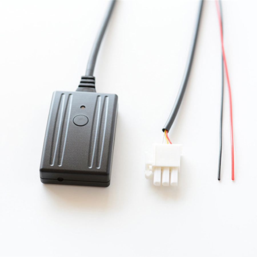 Motorcycle 3-pin AUX IN Bluetooth Music Aux <font><b>Cable</b></font> <font><b>Adapter</b></font> + MIC + Change Song For <font><b>Honda</b></font> Goldwing GL1800 image