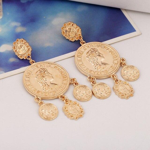 Купить серьги подвески золотые серьги гвоздики металлические геометрические