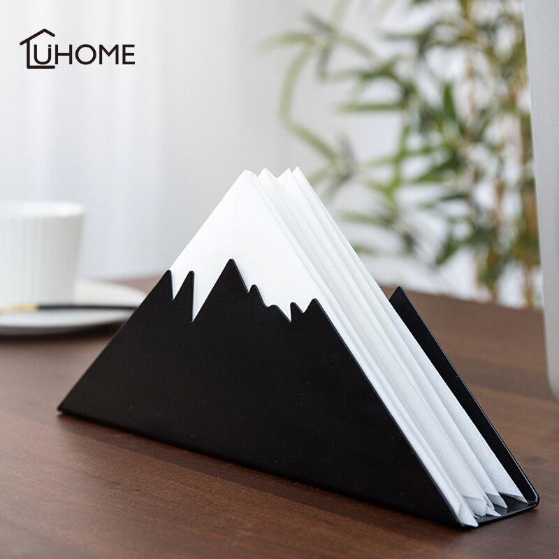 Home Paper Rack Iron Art Tissue Rack Car Home Triangle Shape Tissue Box Container Towel Napkin Holder For Hotel Restaurant