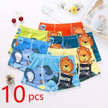 10pcs/Lot Boys Boxer Briefs Kids Underwear Baby Boy Underpants Cartoon Print Soft Children Panties 2-9 years Super Hero 2020 New