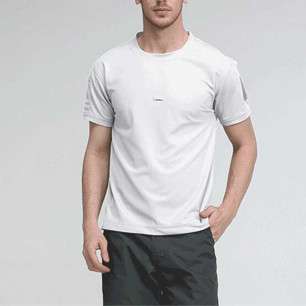 Mannen Tactische Ademend Tshirt Militaire Polyester Sneldrogend T-shirts Army Korte Mouw Slijtvaste Tee Soldaat Ademend