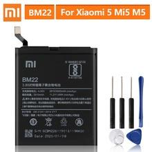 מקורי החלפת סוללה עבור XiaoMi 5 Mi5 M5 ראש BM22 אמיתי טלפון סוללה 3000mAh
