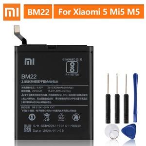 Image 1 - מקורי החלפת סוללה עבור XiaoMi 5 Mi5 M5 ראש BM22 אמיתי טלפון סוללה 3000mAh
