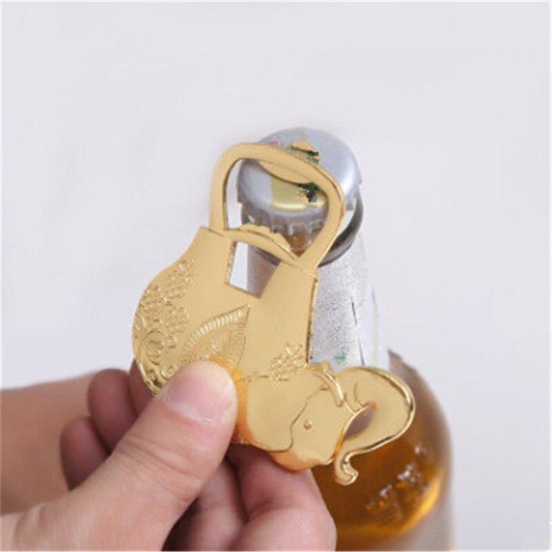 Creative Luxury Golden Elephant Bottle Opener Wine Beer Champagne Wedding Party Wedding Gift Baby Elephant Beer Bottle Opener
