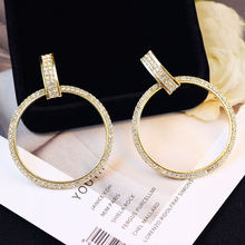 Женские большие серьги с золотыми петлями роскошные круглые