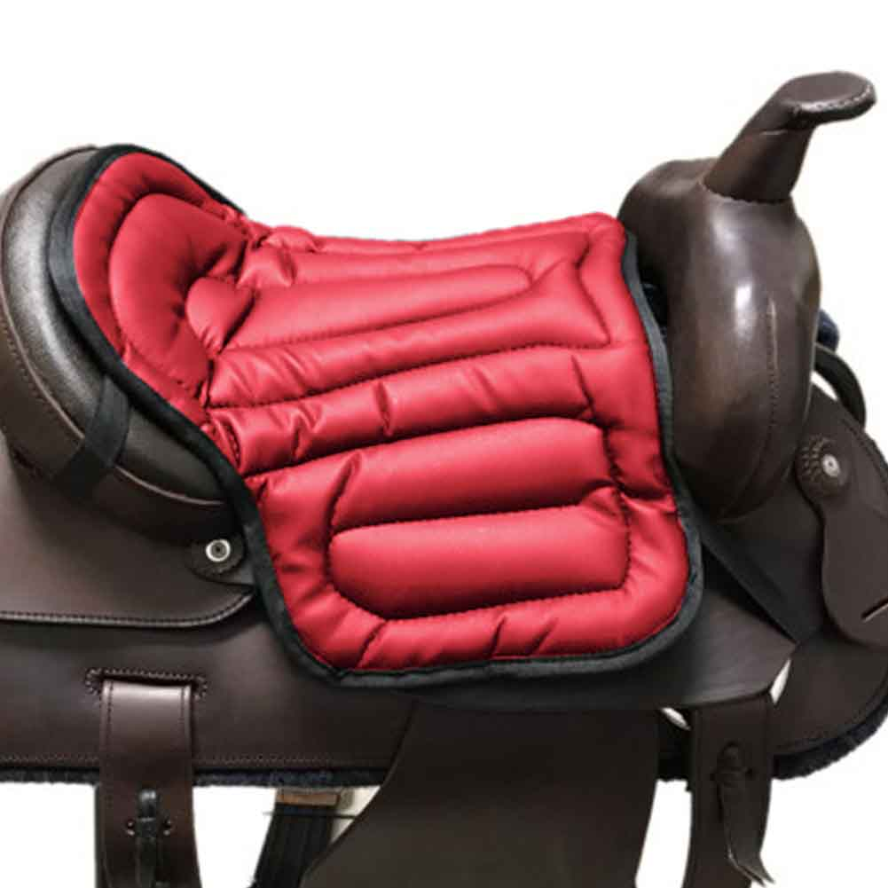 Training Outdoor Equestrian Horse Riding Saddle Pad Jumping Dressage PU Breathable Seat Cushion Wear-resistant Shock Absorption