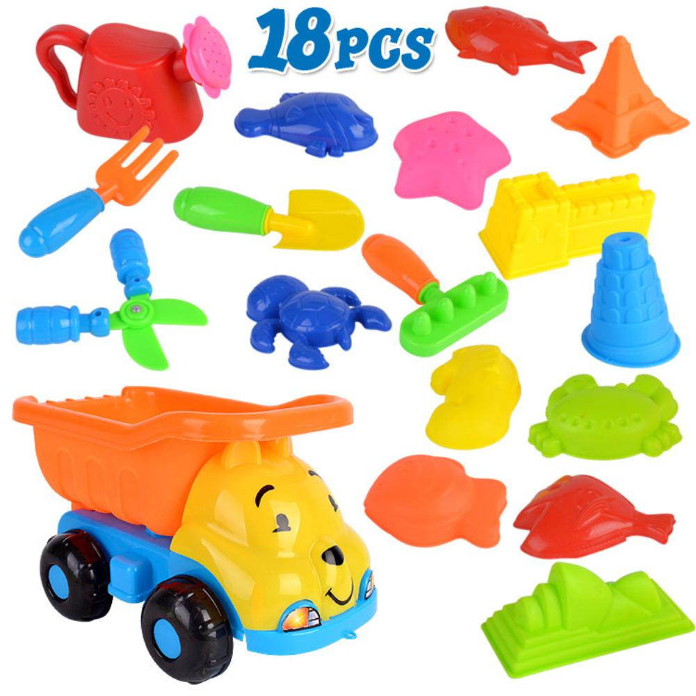 None 18Pcs/Set Beach Play Sand Dredging Tool Toys Set For Kids Baby