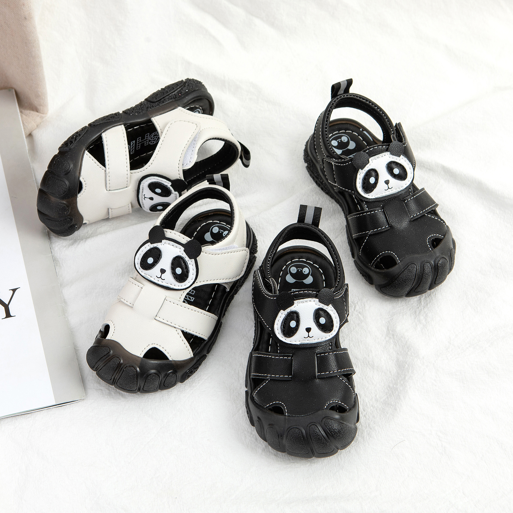 2020 Summer Baby Sandals Shoes Soft Bottom Comfortable Boys Sandals For Baby Beach Shoes White Black Sandals For Kids Children