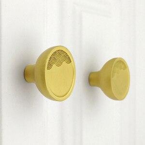 Poignée et bouton de meuble en laiton or | Tiroir, tirette de porte, Artistical matériel de meuble de Style chinois avec vis