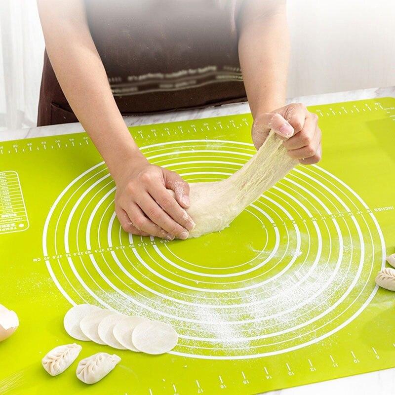 חדש סיליקון מטבח לישה בצק Mat קוקי עוגת אפיית מחצלת כלים עבה שאינו מקל מתגלגל מחצלות מאפה אביזרי גיליון כרית