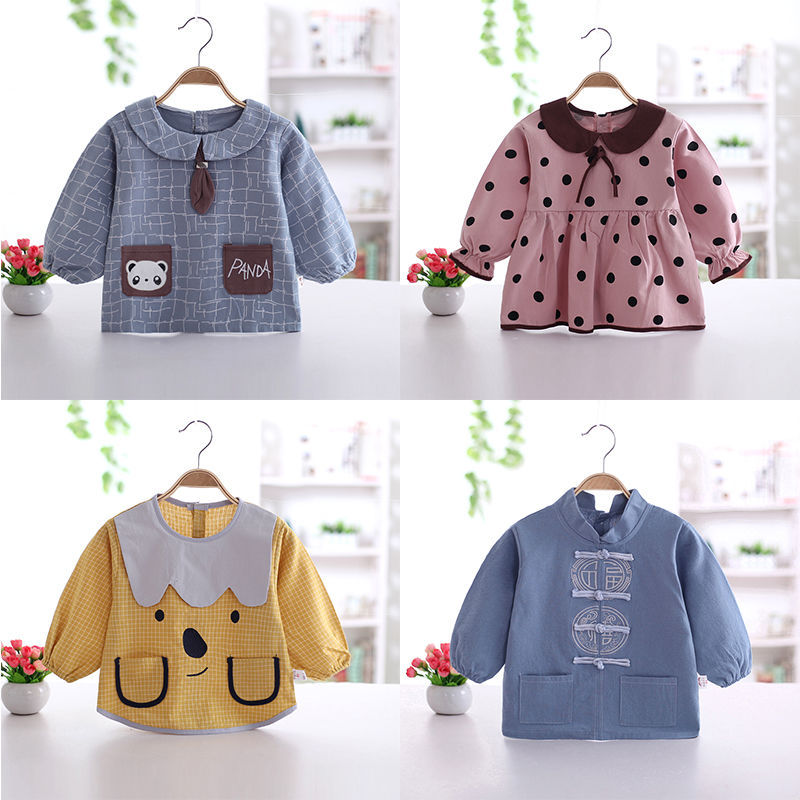 Baby Cotton/Cotton Waterproof Dress Infant Cotton/Cotton Anti-Long Sleeve Protective Clothing Upside-down Coat Men And Women Chi