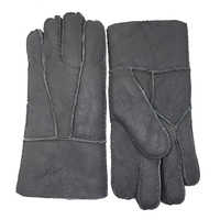 men gloves Winter warm Gloves, Real Sheep skin Men Genuine Leather Mittens Keep Warm Screen Windproof Driving Gloves Male N22