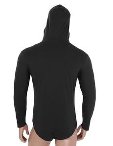 Image 4 - Mannen Een Stuk Lange Mouwen Druk Kruis Hoodie Bodysuit Romper Pyjama