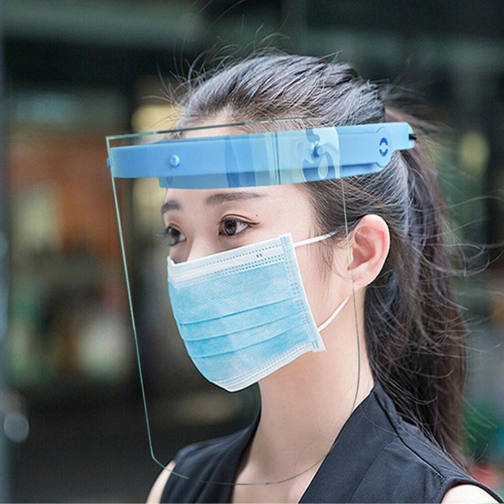 Full Face Masks Anti-splash Face Shield Anti-Fog Anti-Droplets Anti-dust Head-mounted Transparent Protect Safety Mask