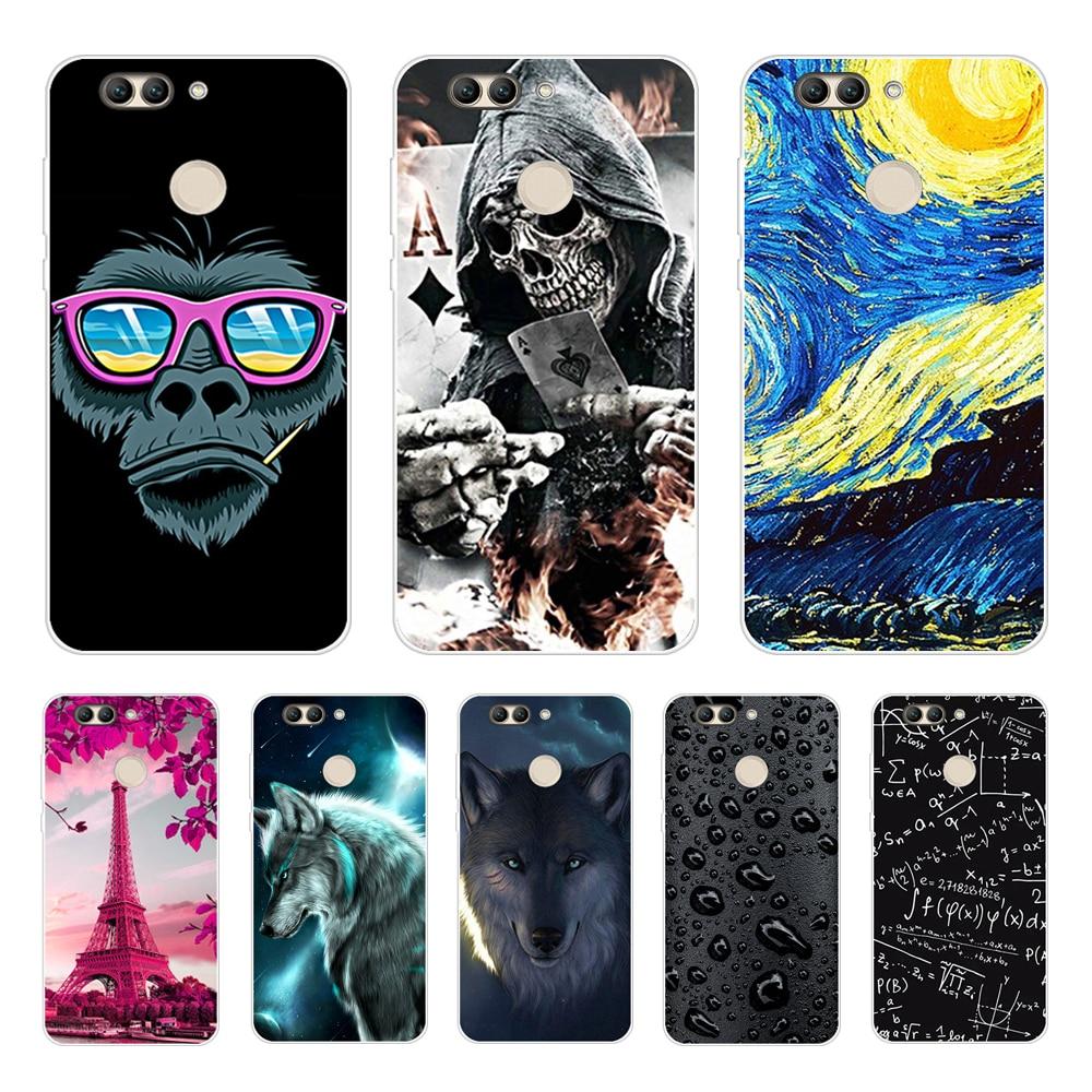 For Huawei Nova 2 Case Silicone Soft TPU Cute Cat Phone Cases For Huawei Nova 2 Nova2 Case Cover For Huawei Nova 2 PIC-LX9 Funda