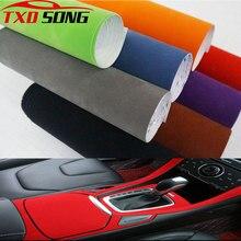 50x200cm tecido de veludo camurça filme de vinil carro envoltório adesivo auto decalque carro automóveis auto-adesivo adesivo carro stylng acessórios