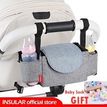 INSULAR Baby Stroller Organizer Bottle Cup Holder Diaper Bags Maternity Nappy Bag Accessories for Portable Baby Carriage(China)