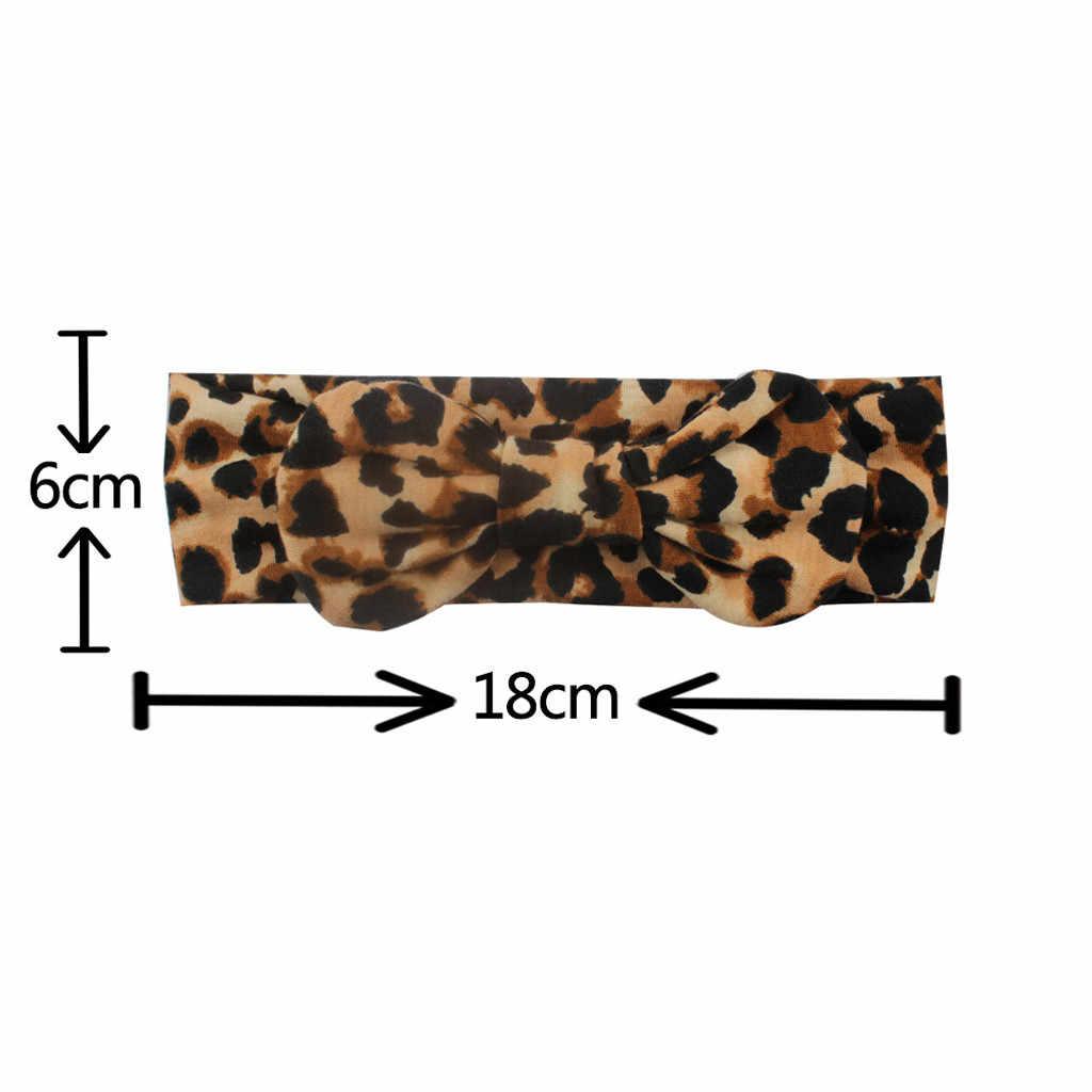 Diadema Para bebé recién nacido turbante con estampado de leopardo princesa banda Para el cabello diadema Haarband accesorios Para el cabello Para bebé