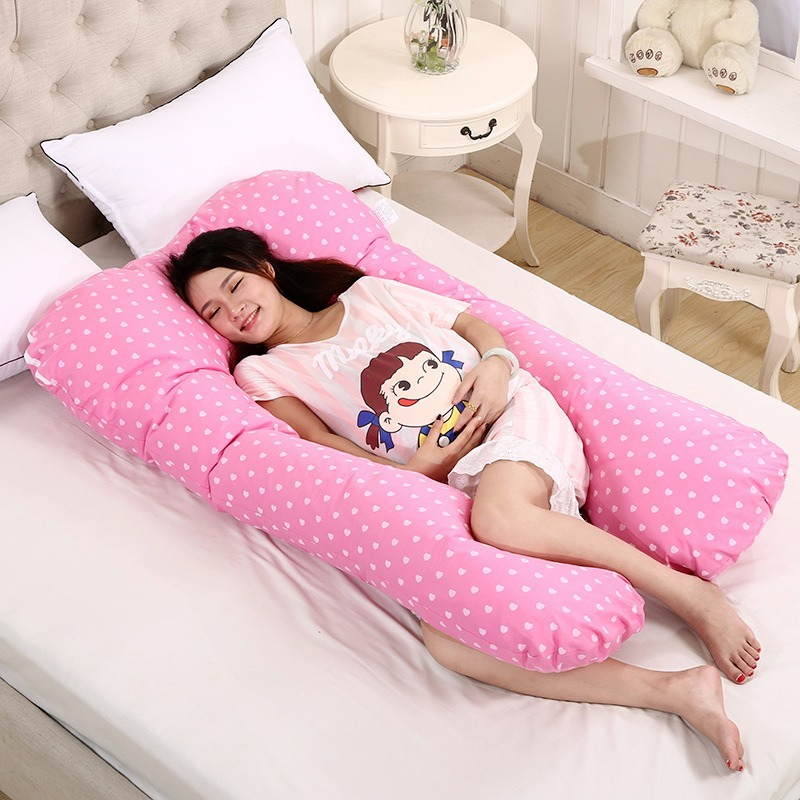 Sleeping Support Pillow For Pregnant Women Body PW12 100% Cotton Rabbit Print U Shape Maternity Pillows Pregnancy Side Sleepers 4