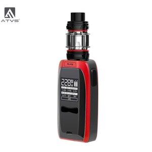 Image 2 - Atvs 228w lâmina cigarro eletrônico kit 18650 caixa mod com 5ml 510 thread tank 228w saída máxima enorme potência por 18650 bateria