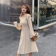 Осенние платья с длинными рукавами и оборками во французском