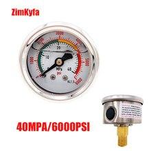 40mpa/6000psi mão pcp bomba de ar manômetro duplo gama de alta pressão calibre m10 * 1.0