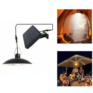 Image 1 - Luz colgante de energía Solar impermeable LED Retro Para calle, para patio exterior, jardín, pasillo, cafetería al aire libre con Panel