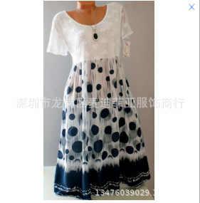 Büyük boy kadın dantel elbise 2020 yaz yeni elbise rahat baskı içi boş kısa kollu yüksek kaliteli bayanlar elbise 5XL