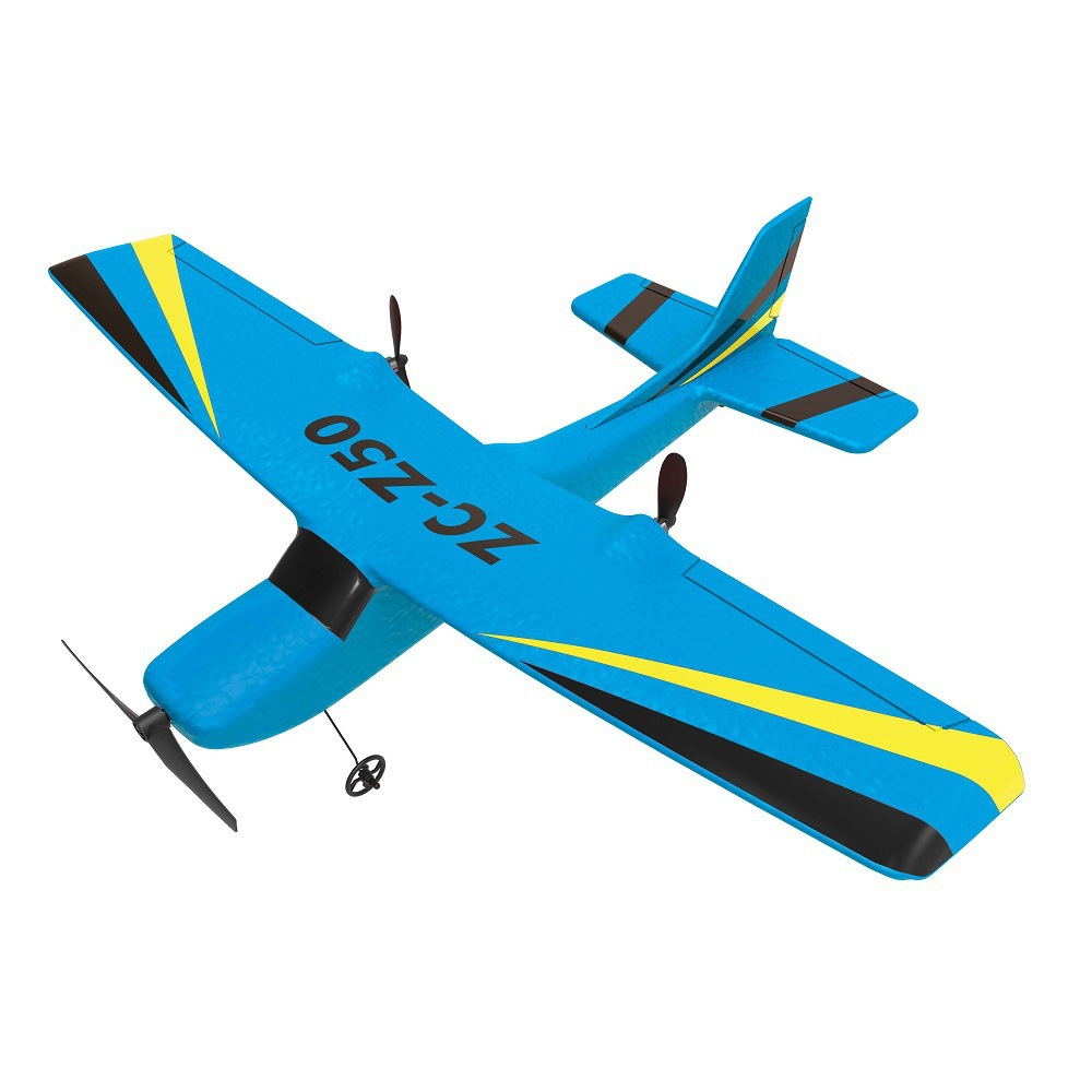 Remote Control Fixed-Wing Gliding Airplane Upgraded 2.4G Aviation Model Charging Gyroscope Cessna EPP Drop-resistant