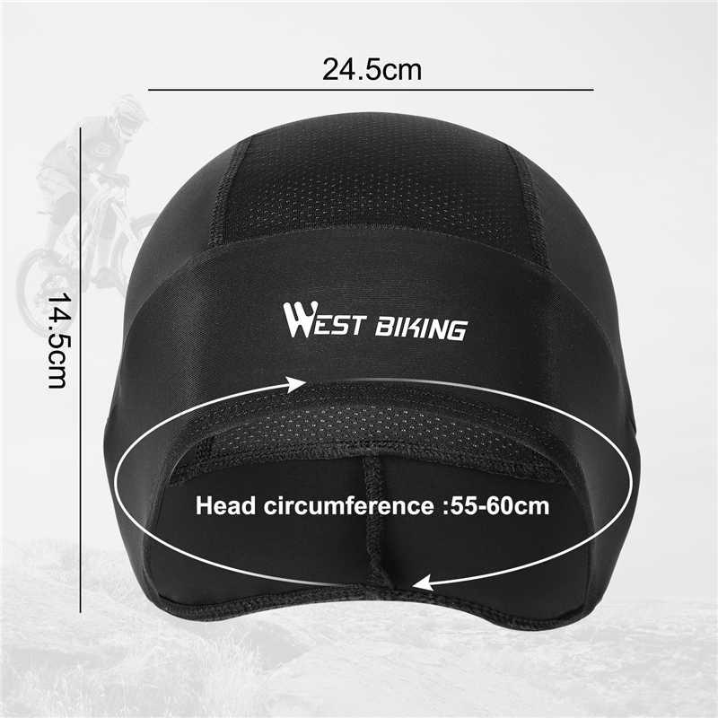 West Bersepeda Musim Panas Topi Es Sutra UV Bersepeda Helm Topi Menjalankan Riding MTB Sepeda Bandana Ikat Kepala Sepeda Motor Hiasan Kepala