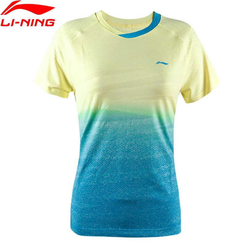 (Break Code) li-Ning Vrouwen Op Droog Badminton T-shirts Ademend Concurrentie Top Li Ning Voering Sport Tee AAYM138 WTS1337