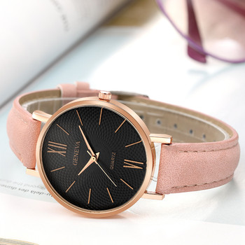 New Fashion Women Quartz Watch Analog Lotus Pattern Dial Casual Watches Leather Band  Strap Wristwatch relogio feminino montre 1 pair couple lover watches quartz dial clock pu leather wristwatch relojes watch women men fashion luxury relogio feminino saat