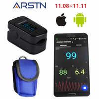 Android iOS Bluetooth 4.0 della Punta Delle Dita Ossimetro di Impulso della casa Oximetro pulso Ossimetro Pulsioximetro Dito della Frequenza Cardiaca monitor CE OLED