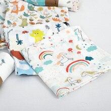 Муслин, хлопок, детские пеленки, мягкие одеяла для новорожденных, для ванной, марля, Детская накидка, спальный мешок, чехол для коляски, игровой коврик