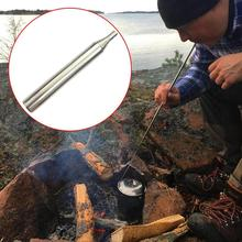 Practical Outdoor Portable Bellow Blow Fire Tube Collapsible Assisted Tool Camping Survival Durable Stainless Steel