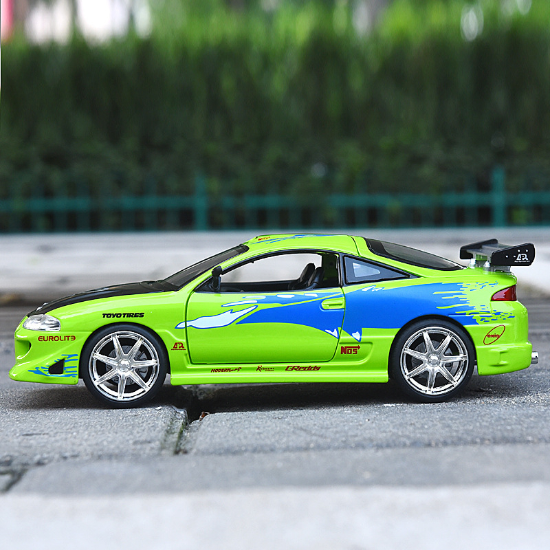 Jada 1/24 Speed And Passion Mitsubishi Eclipse Sports Car Alloy Simulation Model Toys For Children Gift Collection Hot Weels