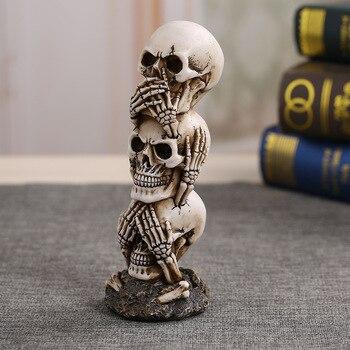 Террор череп украшения моделирование человеческого черепа модель Хэллоуин Бар Дисплей украшения фотосессии реквизит