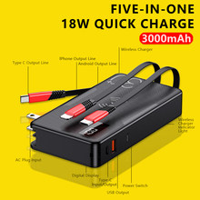 4 in 1 Xiaomi wireless powerbank QI 20000mAh 18W PD QC3.0 Fast Charger 30000mah battery For iPhone Samsung External battery