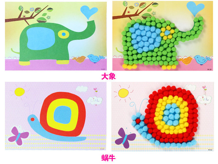 cheapest christmas decoration Photo frame kindergarten lots arts crafts diy toys crafts kids educational for children s toys girl gift