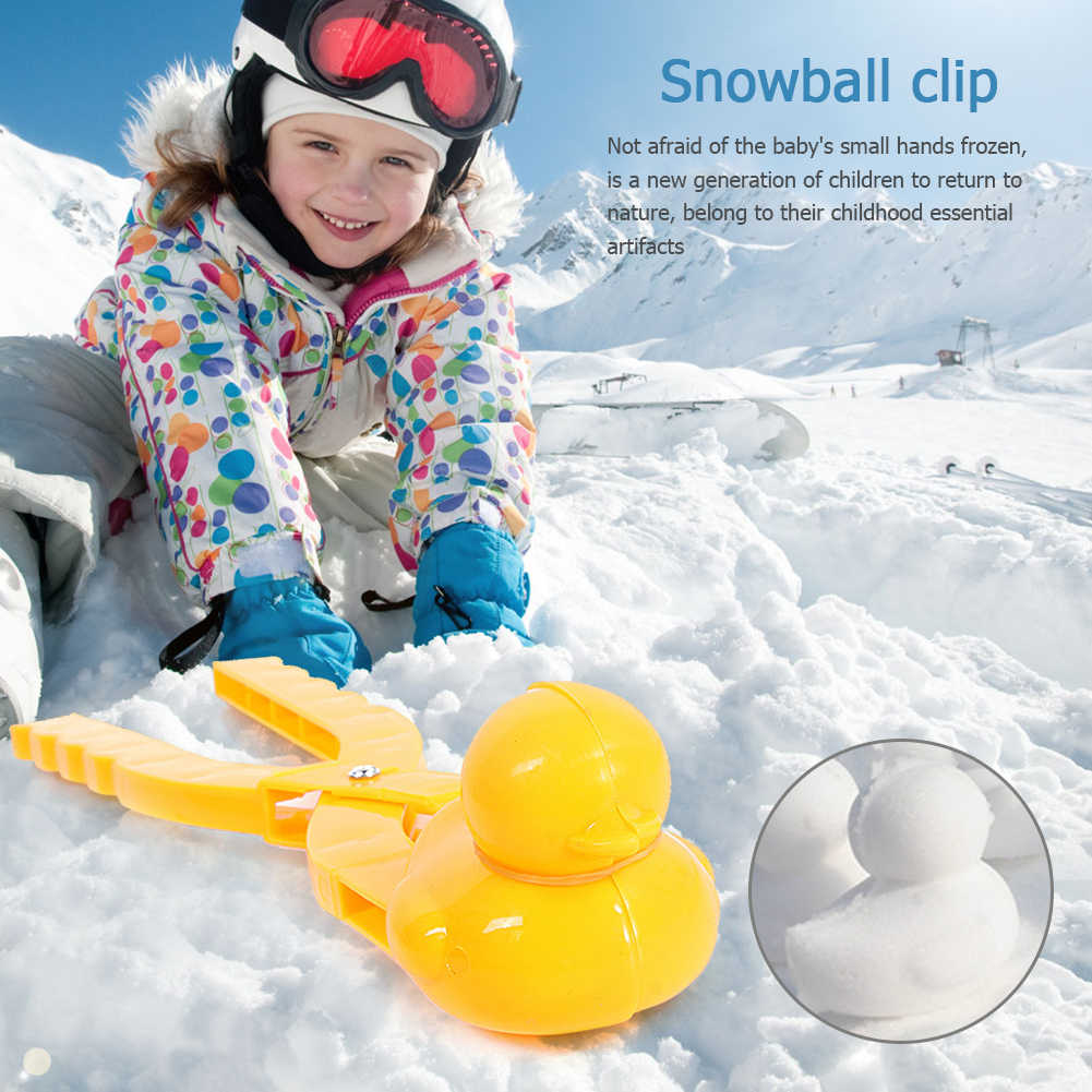 Snow Winter Mold Plastic Tool Clip Perfect Snowball Maker Tool Large Snowman Tool for Fight Winter Outdoor NBRR Snowball Maker for Kids