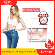 Ifory 20 Pieces 2 Bags Fat Burner Weight Loss Patch Slimming Navel Stick Natural Slimming Diet